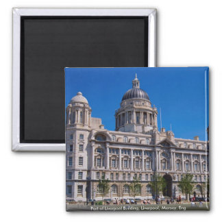 Port of Liverpool Building, Liverpool, Mersey, Eng Refrigerator Magnets