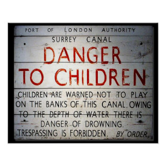 Port of London Authority - Danger Sign Print