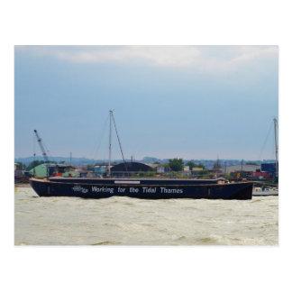 Port Of London Barge Postcard