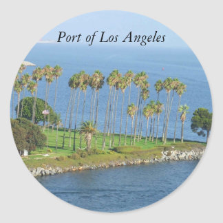 Port Of Los Angeles Palm Trees Stickers