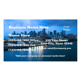 Port of Miami photo Business Card Templates