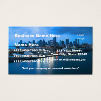 Port of Miami photo Business Card