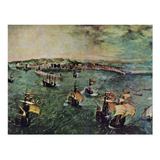 Port Of Naples By Bruegel D. Ä. Pieter Postcard