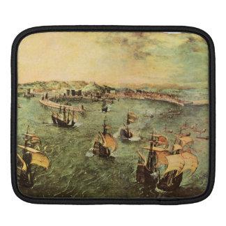 Port of Naples by Pieter Bruegel Sleeve For iPads