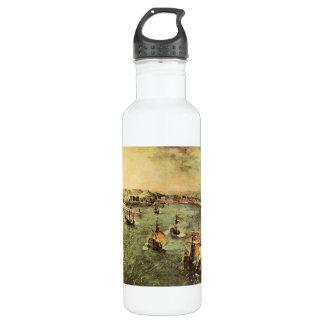 Port of Naples by Pieter Bruegel Stainless Steel Water Bottle