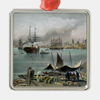 Port of New Orleans, engraved by D.G. Thompson Metal Ornament