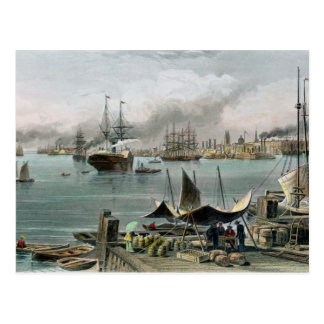 Port of New Orleans, engraved by D.G. Thompson Postcard