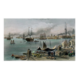 Port of New Orleans, engraved by D.G. Thompson Poster