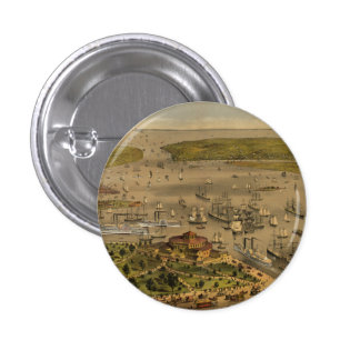 Port of New York by Currier & Ives in 1878 Pins