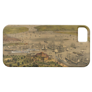 Port of New York by Currier & Ives in 1878 iPhone 5 Covers
