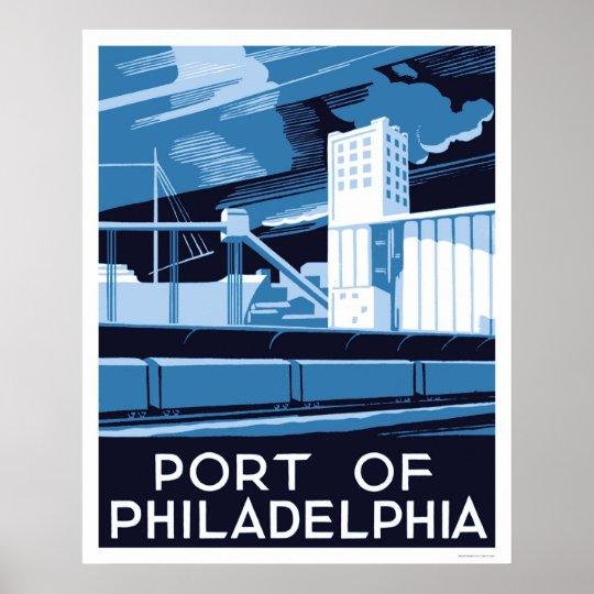 Port Of Philadelphia 1936 WPA Poster