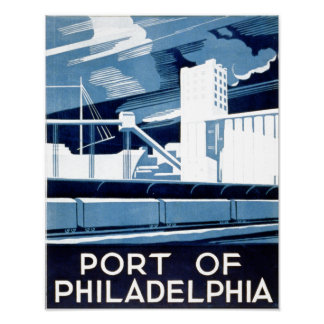 Port of Philadelphia Pennsylvania Poster