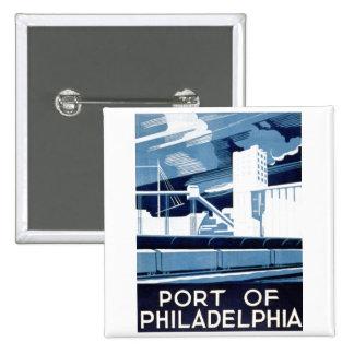 Port of Philadelphia Pennsylvania WPA 1936 Button