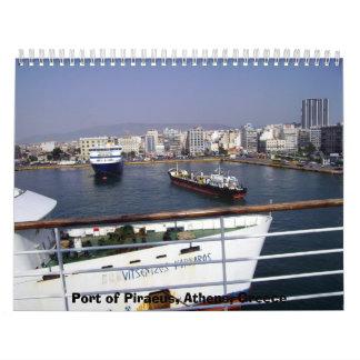 Port of Piraeus Athens Greece Calendar