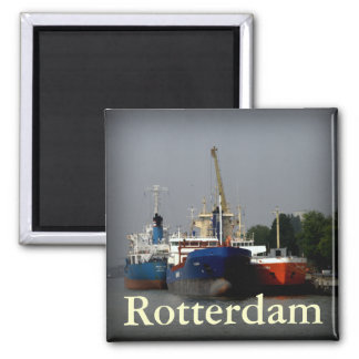 Port of Rotterdam 2 Inch Square Magnet