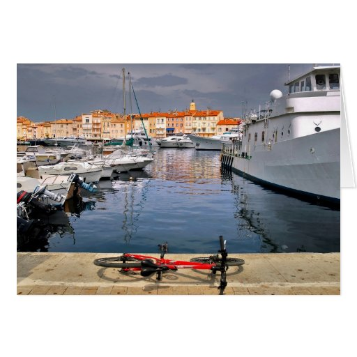 Port of Saint-Tropez in France Greeting Card