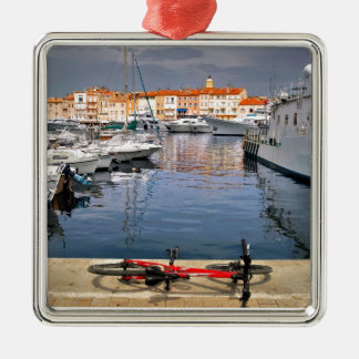 Port of Saint-Tropez in France Metal Ornament