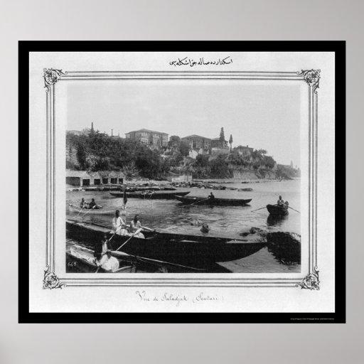 Port of Salacak Istanbul, Turkey 1885 Poster