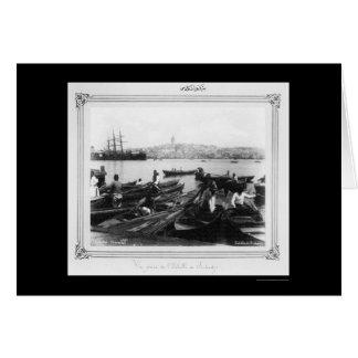 Port of Sirkeci Istanbul, Turkey 1885 Card
