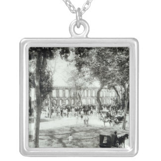 Port of Spain, Trinidad, 1891 Silver Plated Necklace