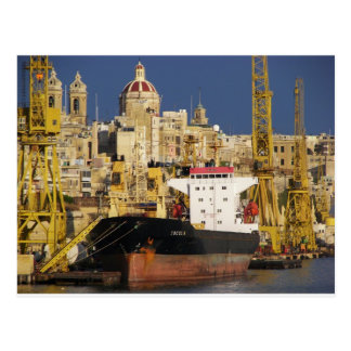Port of Valletta. Postcard