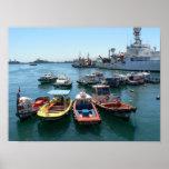 Port of Valparaiso, Chile Print