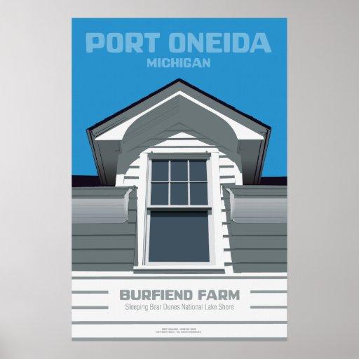 Port Oneida, Michigan - Burfiend Farm Print