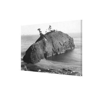Port Orford, Oregon View of Battle Rock Coast Canvas Print