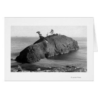 Port Orford, Oregon View of Battle Rock Coast Card