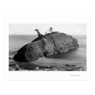 Port Orford, Oregon View of Battle Rock Coast Postcard