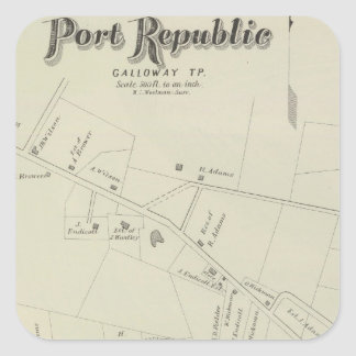 Port Republic, Galloway Tp, New Jersey Square Sticker