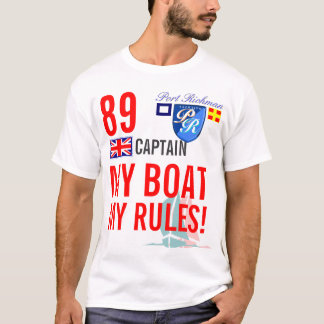 Port Richman My Boat My Rules Nautical Britain T-Shirt