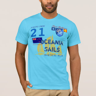 Port Richman Oceania Sails New Zealand Nautical T-Shirt