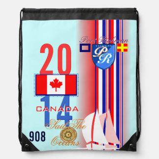 Port Richman Sail the Oceans Canada Flag Drawstring Bag