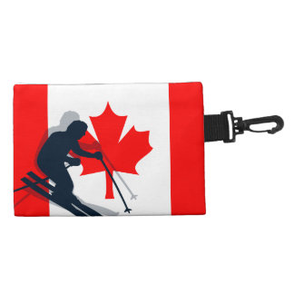 Port Richman Winter Sports Ski Gear Flag Canada Accessory Bag