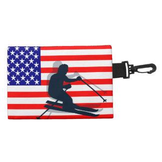 Port Richman Winter Sports Ski Gear Flag USA Accessory Bag