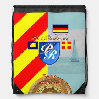 Port Richman Yachting Flag Germany Drawstring Bag