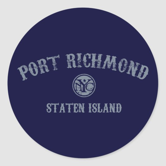 Port Richmond Classic Round Sticker