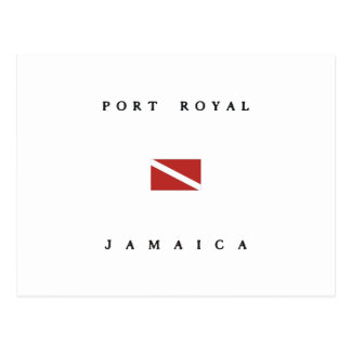 Port Royal Jamaica Scuba Dive Flag Postcard