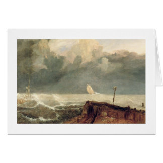 Port Ruysdael (oil on canvas) Card