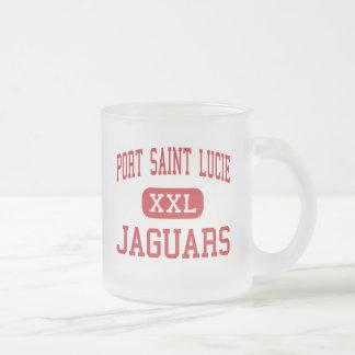 Port Saint Lucie - Jaguars - Port Saint Lucie 10 Oz Frosted Glass Coffee Mug