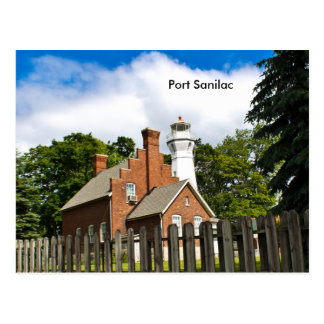 Port Sanilac Lighthouse Postcard