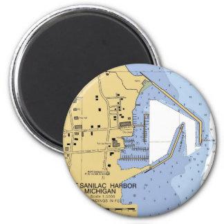 Port Sanilac, MI Nautical Harbor Chart Magnet