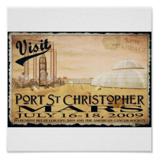 Port St. Christopher-Mars Posters