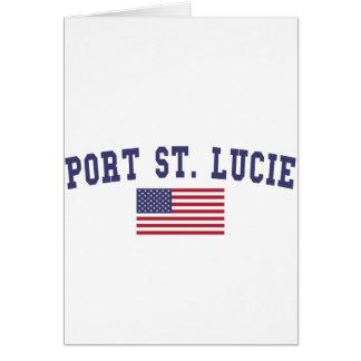 Port St. Lucie US Flag Card