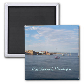 Port Townsend Moorage 2 Inch Square Magnet