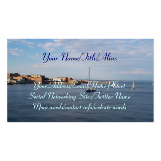 Port Townsend Moorage Double-Sided Standard Business Cards (Pack Of 100)