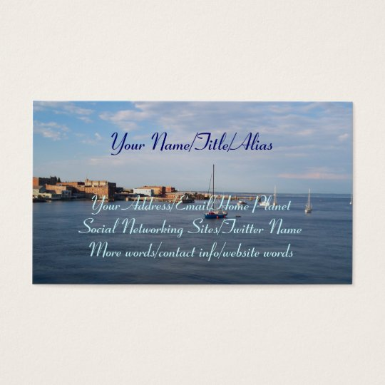 Port Townsend Moorage Business Card
