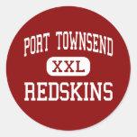 Port Townsend - Redskins - Senior - Port Townsend Classic Round Sticker