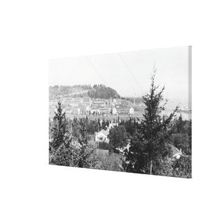 Port Townsend, WA View Main Barracks Fort Warden Canvas Print